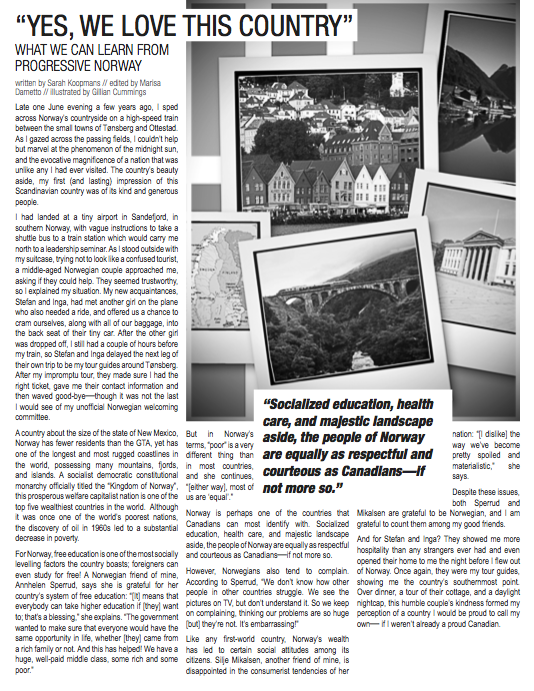 """mitZine Vol. 10. April 2011. Article """"Yes we Love This Country"""". Page 12."""