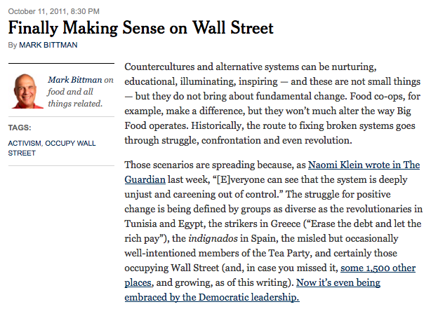 """Finally Making Sense on Wall Street"""