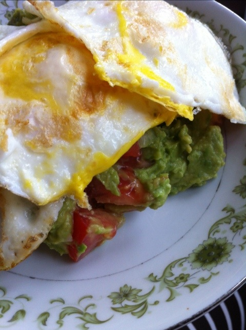 Guac and eggs