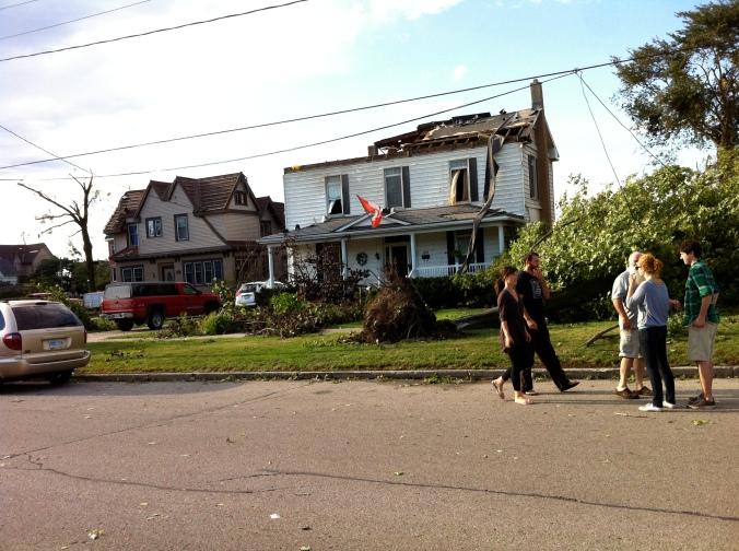 Damage on West Street