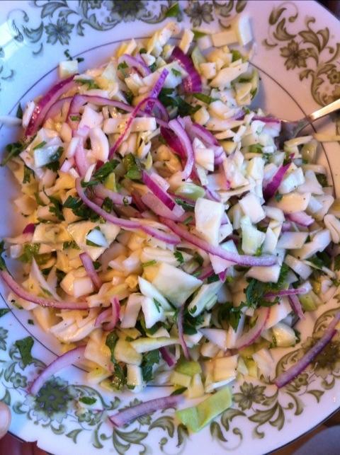lime cilantro coleslaw
