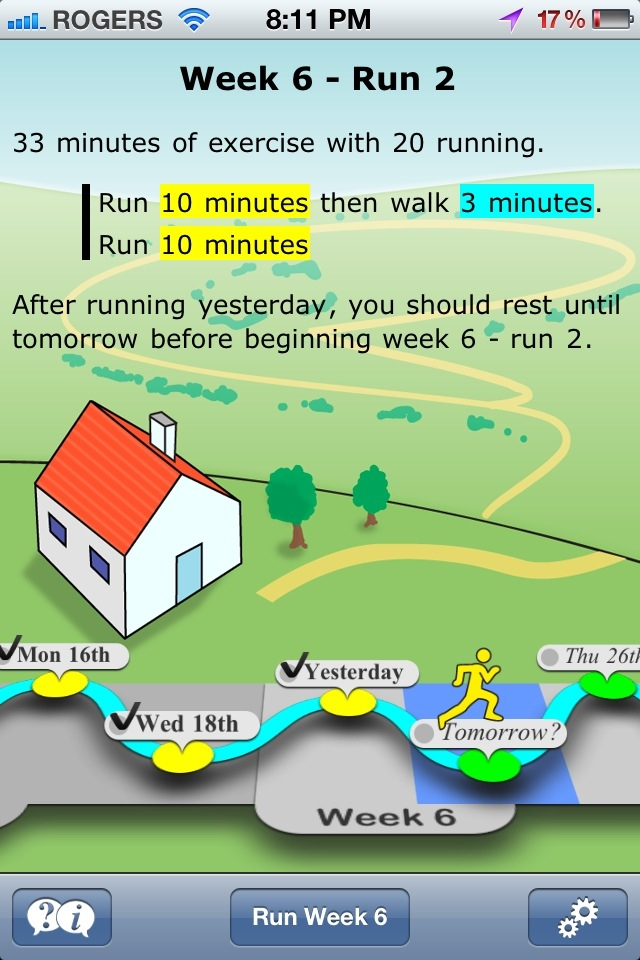 Get Running home screen