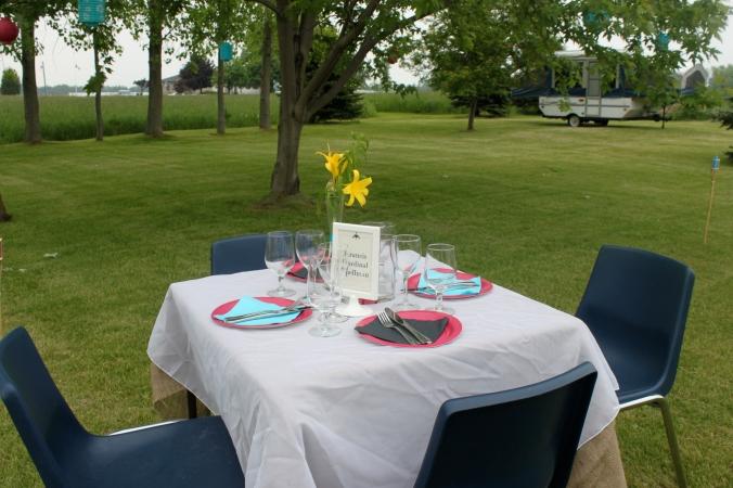 a backyard party