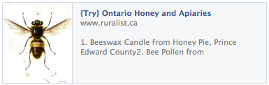 Ontario honey