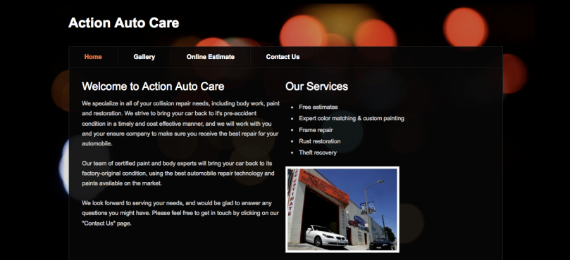 Sample Weebly site