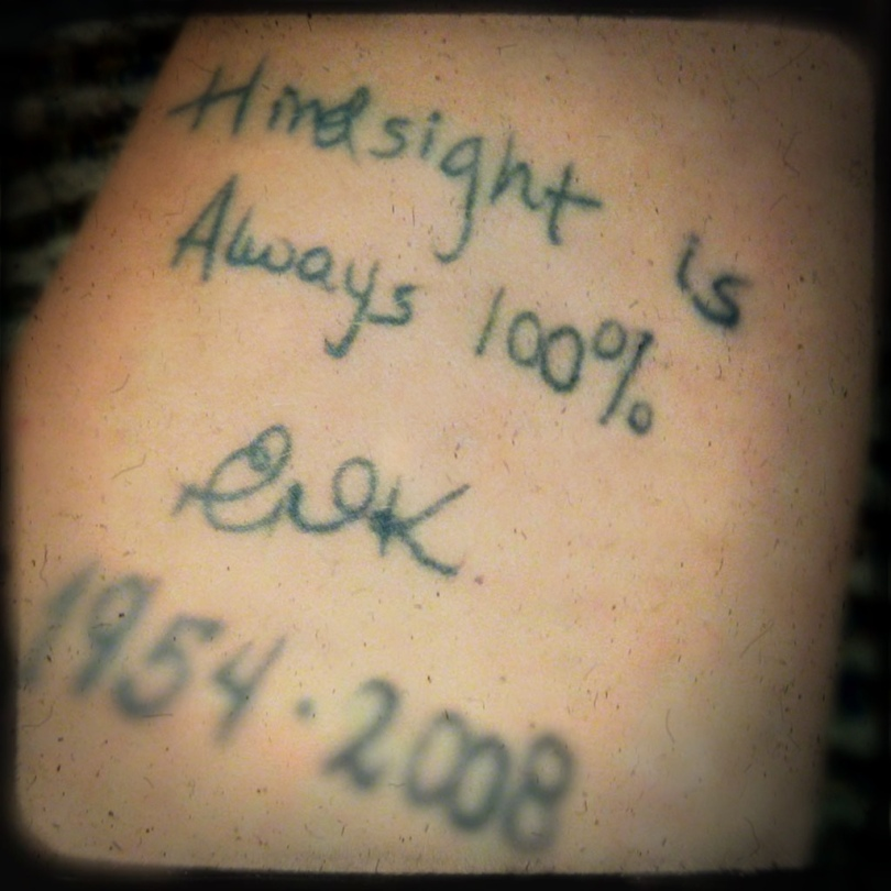 Hindsight tattoo